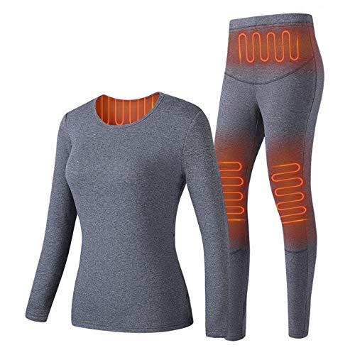 EnweKapu Abbigliamento Riscaldato, Set Intimo Termico Donna Riscaldamento a Raggi Infrarossi Termostato a Tre velocità...