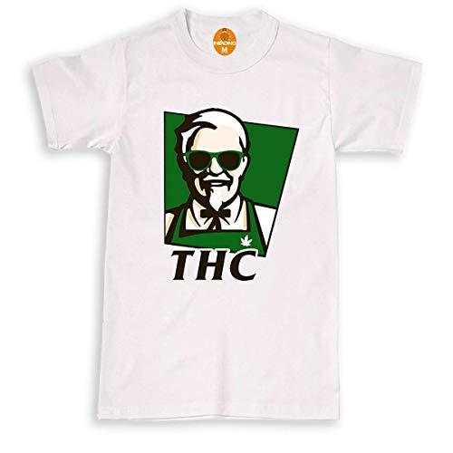 Invading THC KFC T-Shirt pour Cannabis et Gangster - Noir - Taille Unique
