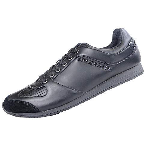 Versace Jeans , Herren Sneaker Schwarz Schwarz , Schwarz - Schwarz - Größe: (42) EU