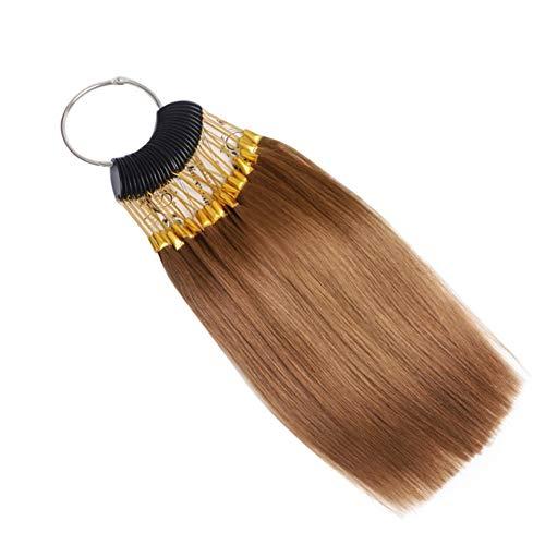 RemeeHi Échantillons de cheveux pour tester la couleur des cheveux avec boucles dorées, 30 mèches, doré foncé 6°