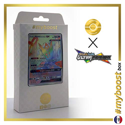 Necrozma Ailes de l'Aurore-GX 161/156 Arc en Ciel Secrète - #myboost X Soleil & Lune 5 Ultra-Prisme - Coffret de 10 Cartes Pokémon Françaises