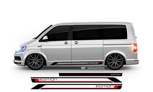 WRAP SKIN Seitenstreifen Set Edition passend für VW T5 T6 Seitenaufkleber Aufkleber WS-03-08-10039-V T5 kurzer Radstand