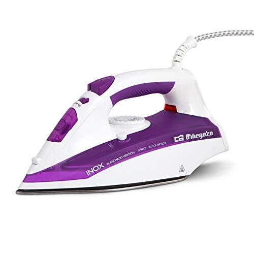 Orbegozo SV 2205 - Plancha ropa vapor, 2200 W de potencia, suela INOX, función autolimpieza, sistema de vapor vertical y regulador de temperatura