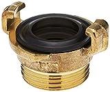 Gardena Messing-Schnellkupplungs-Gewindestück mit Außengewinde: Schlauchanschluss mit 33.3 mm (G 1 Zoll)-Gewinde z.B für Pumpen mit Innengewinde (7115-20)