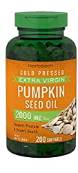 HIGH STRENGTH - 2000mg Pumpkin Seed Oil per serving, rich in antioxidants fatty acids & phytosterols SUPPORTS Prostate & Urinary Tract Health and may help to reduce cholesterol CONCENTRATED nutrition & vitamins through high quality Cold Pressed, Extr...