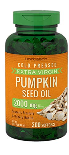 Pumpkin Seed Oil 2000mg | 200 Softgel Capsules | Cold Pressed | Supports Prostate & Urinary Health | Non-GMO, Gluten Free | by Horbaach