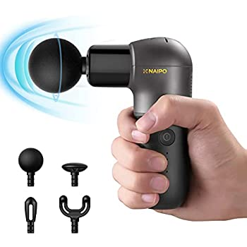 Mini Massage Gun Deep Tissue Muscle Massager - Naipo Portable Handheld Electric Massagers with Percussion Massage Ergonomic Handle USB Charging- at Home Gym Outdoors