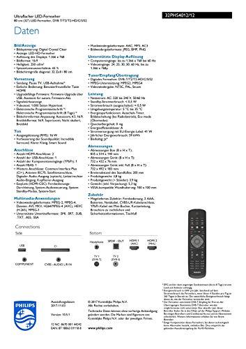Philips 32PHS4012/12 80 cm (32 Zoll) LED-Fernseher