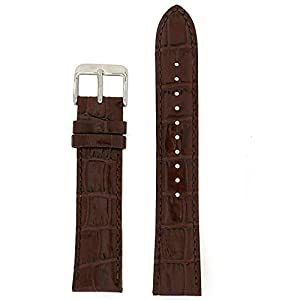 Fashion Shopping Seiko Genuine Textured Brown Leather Alligator Grain, No Color, Size No Size
