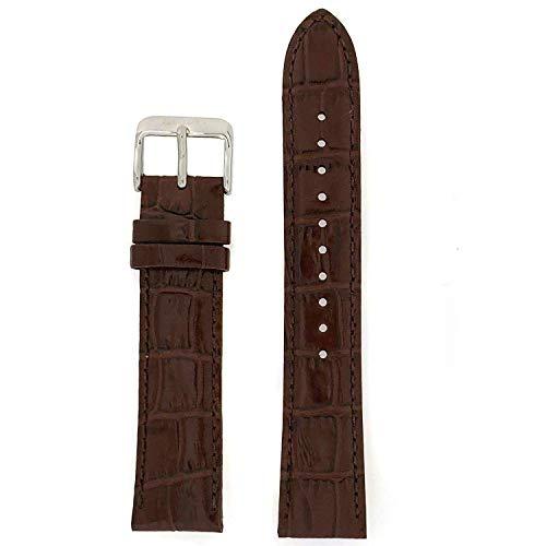 Seiko Genuine Textured Brown Leather Alligator Grain, No Color, Size No Size