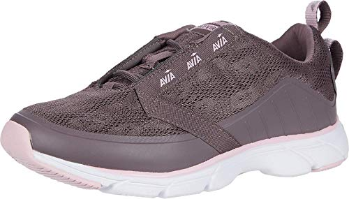 Avia Women's Walking Shoe, Sparrow/Fragrant Lilac/Silver, 8