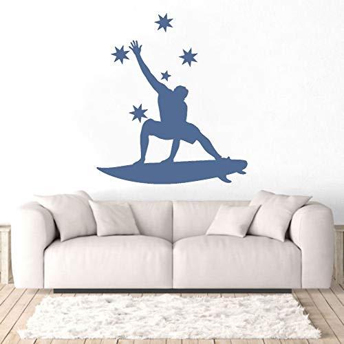 Rfokun Superstar Surfer Guy Wandaufkleber Aufkleber Surf Aufkleber Home Wanddekoration 74x91cm