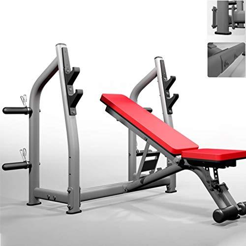 HAOYF Kommerzielle Kniebeugenständer Verstellbare Hantelbank Multifunktions Fitnessgerät Langhantelablage Bankdrücken Ausrüstung Gewicht Training Ausrüstung Lager 450kg