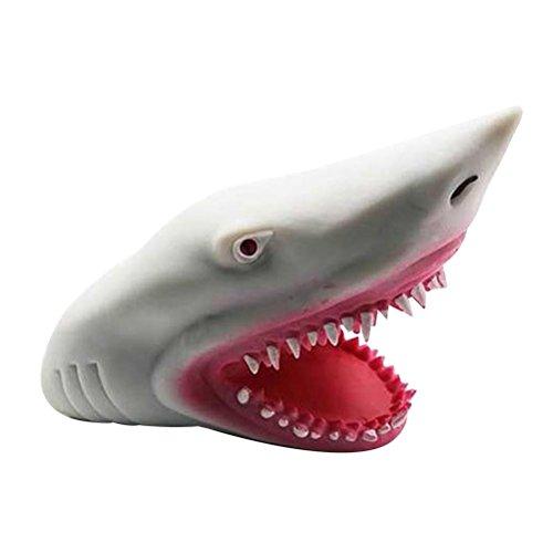 TOYMYTOY Títere de mano de tiburón, de goma suave, para niños
