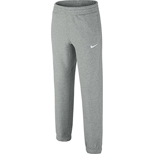 Nike Jungen Oberbekleidung N45 Core Cuffed Pants Hose, Dark Grey Heather/Gym Red/White, S