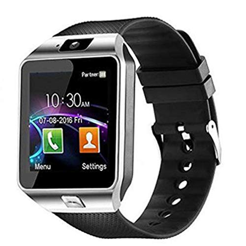 Nihlsfen Reloj Inteligente para Hombre, Reloj para teléfono Android, cámara Impermeable, Reloj Inteligente, Pulsera de Llamada, Reloj Inteligente para Mujer, Reloj para Llamadas con Tarjeta