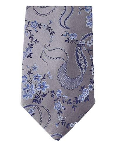 David Van Hagen Cravate floral gris de