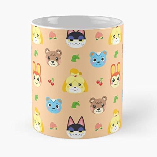 Filbert Punchy Acnh Isabelle Bunnie Crossing Acnl Animal Maple - Best 11 Ounce Ceramic Mug - Classic Mug for Coffee, Tea, Chocolate or Latte