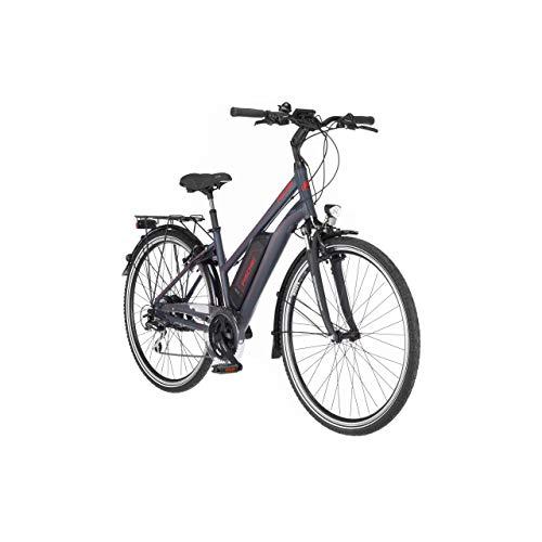 FISCHER Damen - Trekking E-Bike ETD 1806, Elektrofahrrad, dunkel anthrazit matt, 28 Zoll, RH 44 cm, Hinterradmotor 45 Nm, 48 V/422 Wh Akku