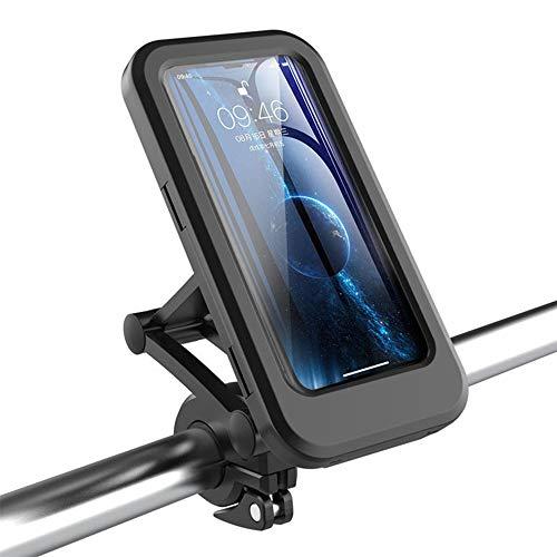 WHCL Montaje del teléfono la Bicicleta, Soporte teléfono Celular Universal Impermeable, Soporte teléfono Bicicleta Montaje Ajustable 360 ° con Pantalla táctil TPU para teléfonos Inteligentes 4-6.5'