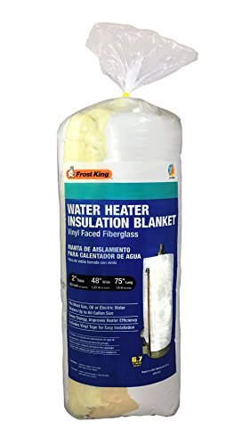"""Frost King SP57/67 All Season Water Heater Insulation Blanket, 2"""" Thick x 48"""" x 75"""", R6.7"""