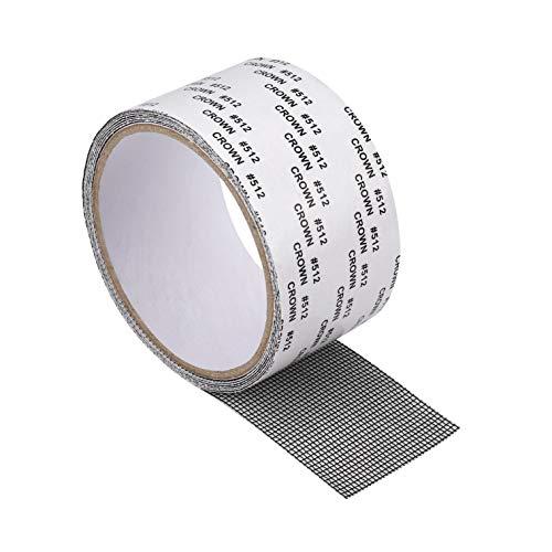 Parche de Malla Impermeable Pegatinas de Reparación de Pantalla Ventana Puerta Cinta Adhesiva Reparar Agujero Anti Mosquito Negro