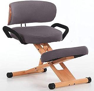 NNDQ Silla ergonómica para arrodillarse con Respaldo, | Taburete de Rodilla para Soporte de Espalda, Dolor de Cuello y Alivio de la Columna Vertebral | Cojines ortopédicos para Las Rodillas