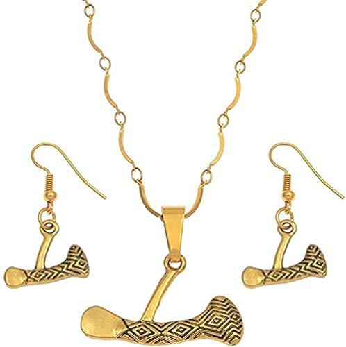 YOUZYHG co.,ltd Collar Hache Conjuntos de Joyas Collares Pendientes Pendientes para Mujeres Niñas Conjunto de Hacha de joyería de Papúa Guinea