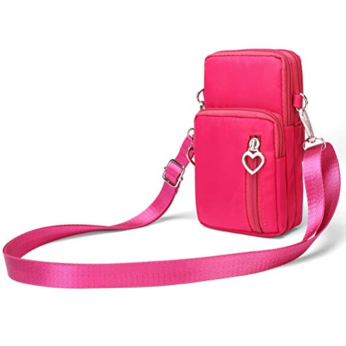 Hüfttasche Waist Bag Handytasche, Handy Umhängetasche Mädchen, Canvas Universal Handytasche zum Umhängen Kartentasche Geldbörse Kleiner Taschen Damentasche für Frauen Kinder, Phone (G)