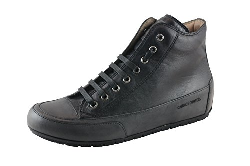 Candice Cooper Plus 04 schwarz Tamponato (Kalbleder) Base anthrazit Damen Sneaker Stiefel Größe 37