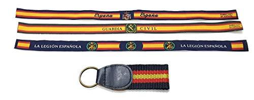 Lote 3 Pulsera Tela de anudar, Bandera España, Guardia Civil, Legión