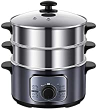 XJJZS Pot à Vapeur électrique à Trois Couches ménager cuiseur à Vapeur Automatique cuiseur à Vapeur électrique Chauffe-Plats