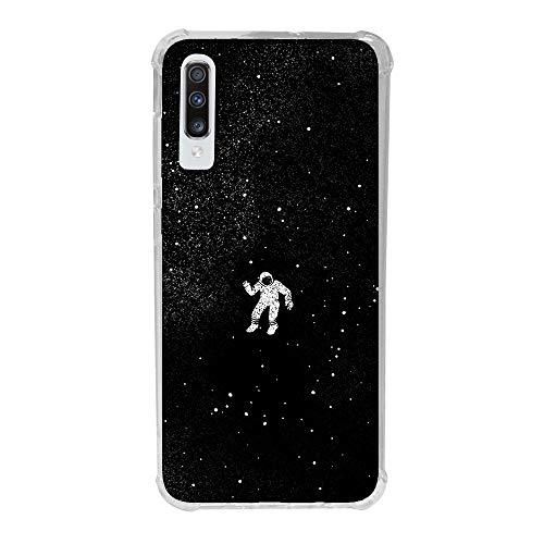 Capa Anti-Impacto Personalizada para Galaxy A70 - Astronauta - Husky, Husky, Capa Protetora para Celular, Colorido
