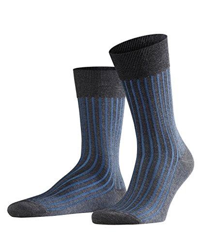 FALKE Herren Socken Shadow - 95{b27e77ceb67d34b10db48a1871619f534fcb9c5f1c35aeea932a190eaf8cd90a} Baumwolle, 1 Paar, Grau (Anthracite Melange 3191), Größe: 45-46