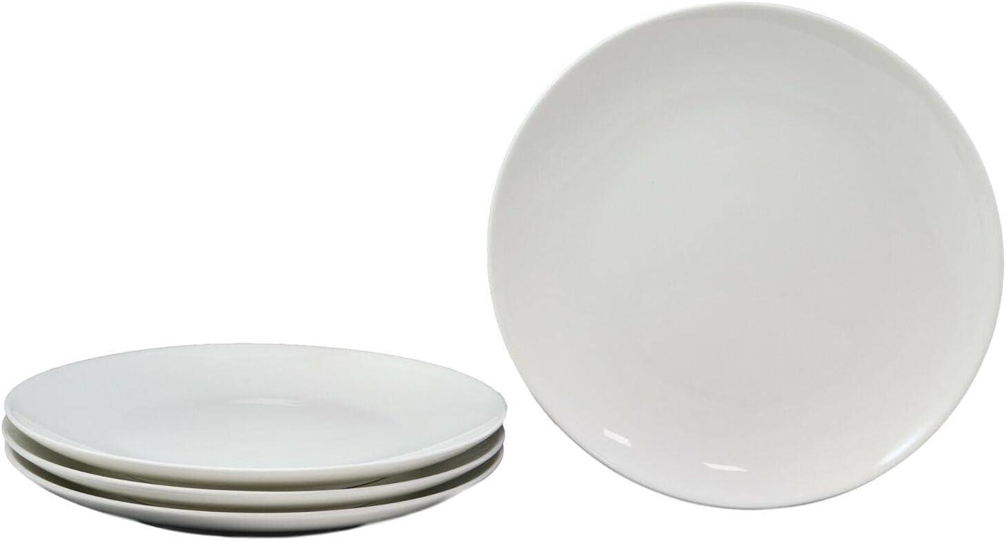 Set Of Ranking TOP9 4 Sleek Design White Free Shipping New Desser Dinner Round Porcelain Entree