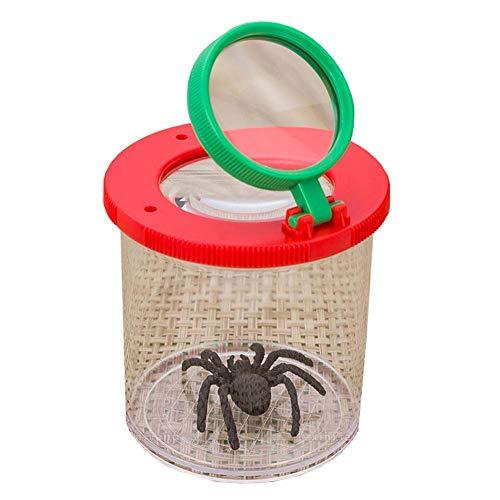 Yx-outdoor kinder insectenmicroscoop, bug vergrootglas 3X, 6X, 1.7 Inch, 1.3 Inch HD acryl lenzen, cultiveren verkennen geest en observeren 0