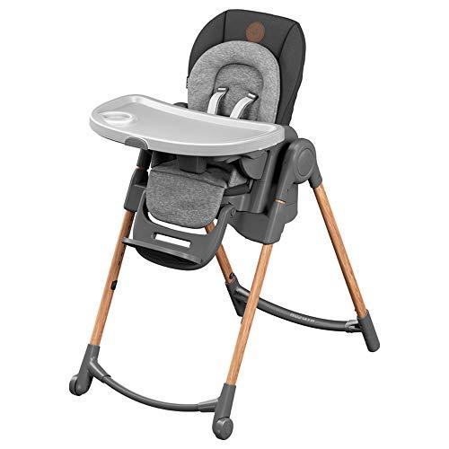 Maxi-Cosi Minla Chaise Haute bébé Évolutive, Réglable 6 positions, de la naissance à 6 ans (jusqu'à 30kg), Essential Graphite
