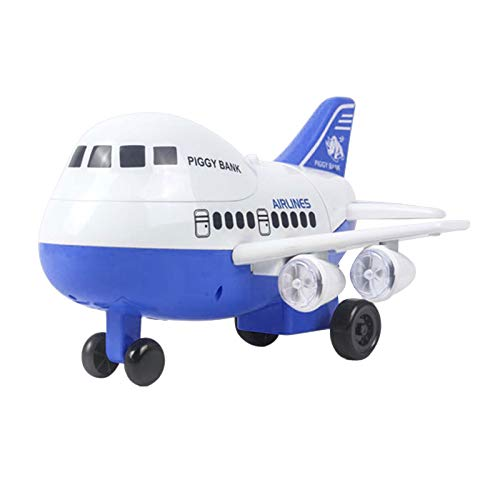Janly Clearance Sale Education Toys, New Face Fingerprint Airplane Money Saving Machine Electric Light Children Saving Machine, Toys and Hobbies for Kid's Gift (Blue)