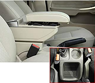 for Ford Focus 2 MK2 2009-2012 Luxury Car Armrest Center Console Accessories The Cover Can Raised Oversized Space Built-in LED Light with Cup Holder Removable Ashtray Beige