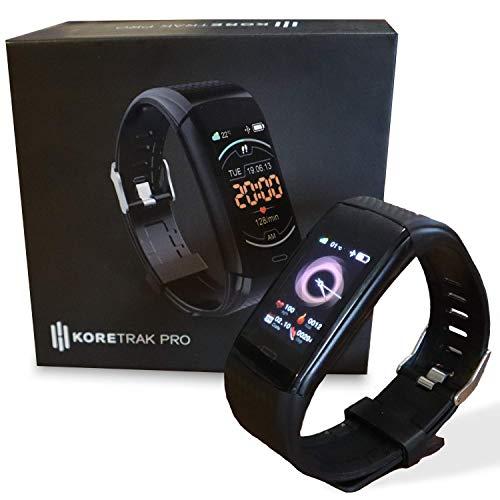 KoreHealth KoreTrak Pro Monitor de Actividad - Smartwatch para fitness y actividades físicas l Reloj de ritmo cardíaco y cuentapasos l Accesorios de ejercicio y entrenamiento para hombre y mujer