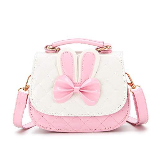 SEALEN Sacs à Main Petites Filles Crossbody, Mini sacs à Main Princesse Mignonne pour les Tout-Petits, Sac de Messager D'épaule de Lapin Cadeaux de Pâques pour Filles