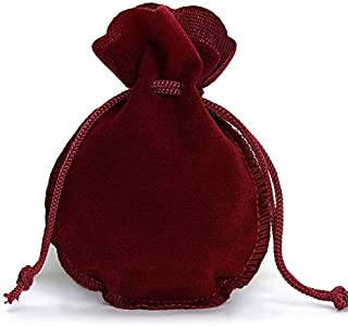LIANTINGZHENG 10pcs 2 Sizes Calabash Packing Drawstring Velvet Pouch Sachet Gift Bag For Jewelry Wedding Things Party Bead...