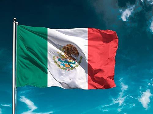 Bandera México | Bandera Países | Medidas 150cm x 85cm | Fácil colocación | Decoración Exteriores (1 Unidad)