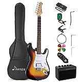Donner Kit Chitarra Elettrica, S-S-H Pickups, Stratocaster Chitarre Elettriche da 39 Pollici con...