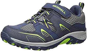 Merrell Kids' Unisex M-Trail Chaser Jr Sneaker, Navy/Green, 10 M US Toddler