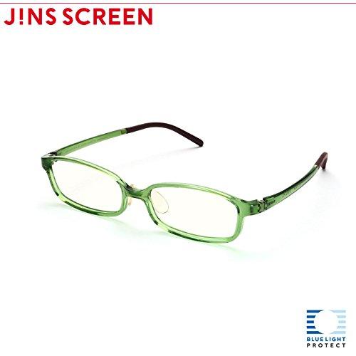 【JINS SCREEN クリアレンズ】スクエア (GREEN)