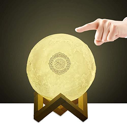 3D Moon Quran Speaker Light, Portable Quran Speaker APP Control Remote Small Moon Light Night Light with Bluetooth hajj Gifts