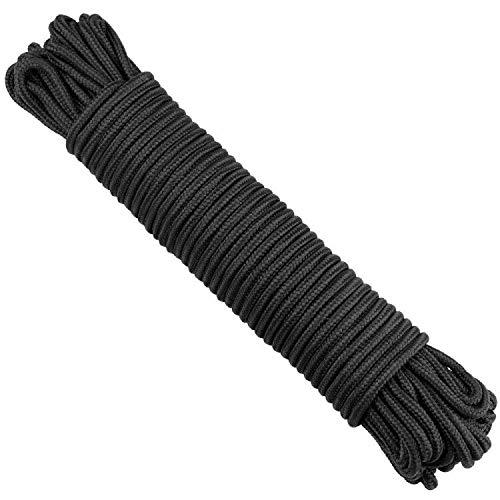 30M Paracord-Seil, 6MM Dick Nylon Outdoor Seil, Kletterndes Zugbinde Seil für kampierenden Garten im Freien