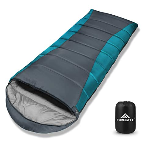 Forceatt Sleeping Bag for Adults and Teens in Winter(14℉ to 59℉) 丨 Great for Camping, Backpacking and Hiking 丨 Water Resistant, Lightweight and Warm 丨Flannel and Sprayed Cotton