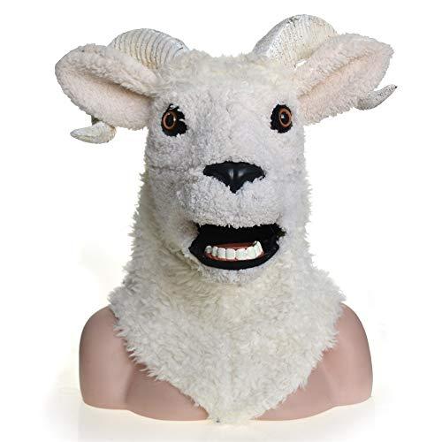 Tierkopfmaske Heißer verkauf cosplay karneval kostüm tiere maske lamm schafe maskerade volle kopf tiermaske für halloween karneval party eigentümlich partei spaß maske Pelzige Maske